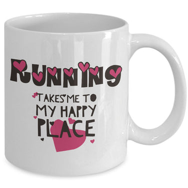 Running Coffee Mug - Funny Runner Or Jogging Lover Gift Idea -