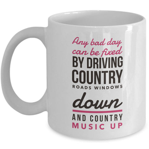Country Music Coffee Mug - Music Gift For Country Music Lovers -