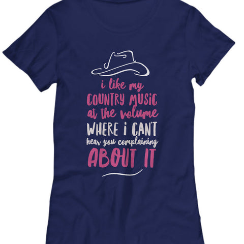 Country Music T Shirt - Wpmens Country Music Lovers Gift -