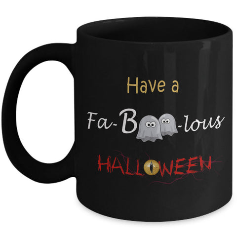 Halloween Coffee Mug- Halloween Gift Idea For Adults - Cute Ghost Mug -