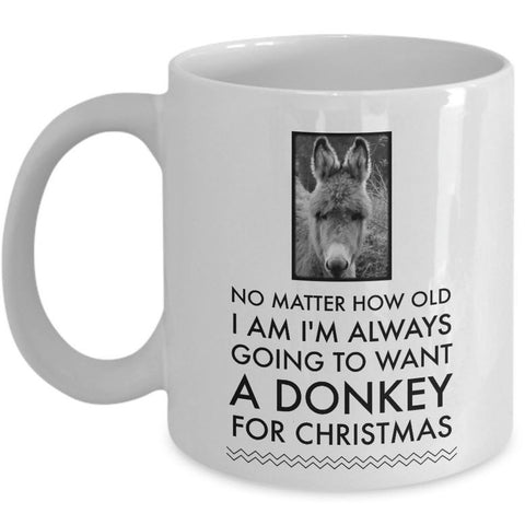 Donkey Mug - Christmas Gift For Donkey Lovers - Donkey Christmas Cup -