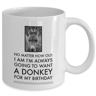 Donkey Coffee Mug - Birthday Gift For Donkey Lovers -