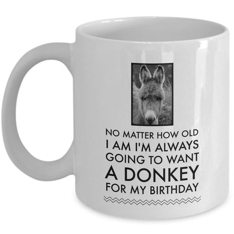 Donkey Mug - Birthday Gift For Donkey Lovers - Donkey Gifts For Women - Donkey Cup -