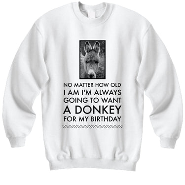 Donkey Sweatshirt - Donkey Lovers Gift For Women - Donkey Present -