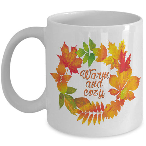 Fall Coffee Mug - Autumn Leaf Coffee Mug - Harvest Mug -