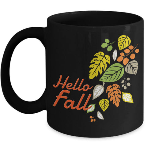 Fall Coffee Mug - Autumn Leaf Coffee Mug -