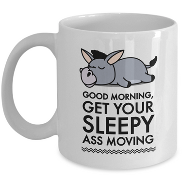 Donkey Mug - White 11oz Ceramic Donkey Gift For Women - Gift For Donkey Lovers -