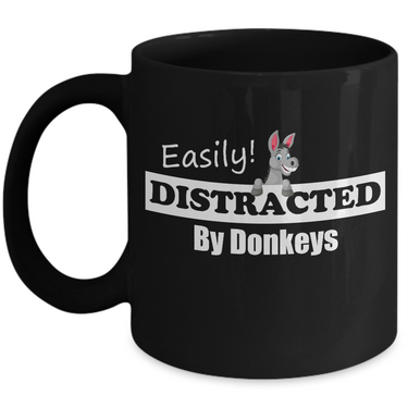 Donkey Mug - Ceramic Donkey Cup - Donkey Gift For Donkey Lovers -