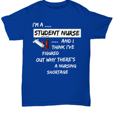 Student Nurse Shirt - Nursing School Gift - Gift For Nursing Students - Nursing School Shirts For Women Or Men -