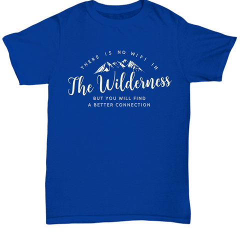 Wilderness T Shirt For Men- Camping Outdoors Shirt - Mountains Tee Shirt -