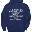 funny country music hoodie for women or men