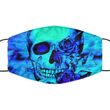 Skull Face Mask - Washable Reusable Lightweight Halloween Covid Mask For Women Or Men - Adult Size Pandemic Mask For Him Or Her