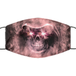 Skull Halloween Face Mask- Washable And Reusable 2-Layered Covid Mask For Women Or Men - Adult Size Breathable Pandemic Mask For Him/Her