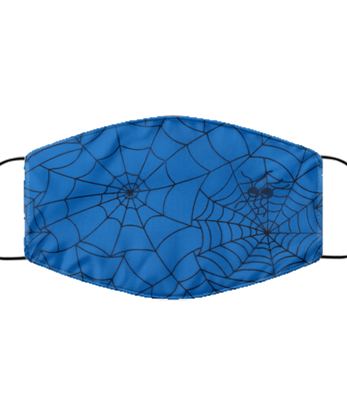 Spider Web Face Mask - Washable Reusable Lightweight Halloween Covid Mask For Women Or Men - Adult Size Pandemic Mask For Him Or Her