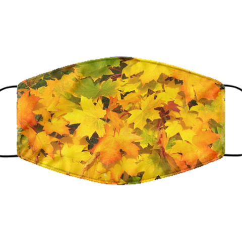 Thanksgiving Face Mask - Washable And Reusable - Autumn Leaves Mask - Fall Face Mask - Super Comfortable & Breathable - Secure Fit