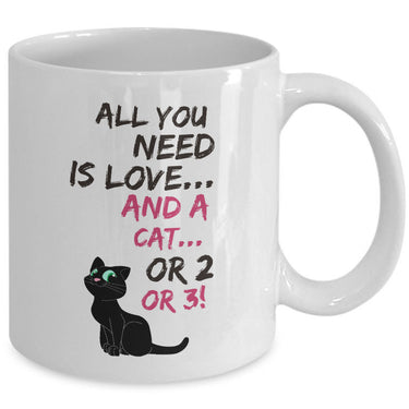 Cat Coffee Mug -Funny Cat Lovers Gift For Women Or Men -