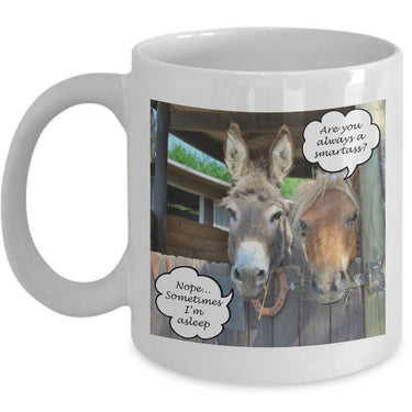 Donkey Coffee Mug - Funny Gift For Donkey Lovers - Adult Humor Mug -