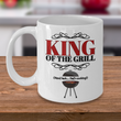 "Dad Coffee Mug - Funny Fathers Day Gift Idea From Son Or Daughter - Dad Cooking Gift - ""King Of The Grill"""