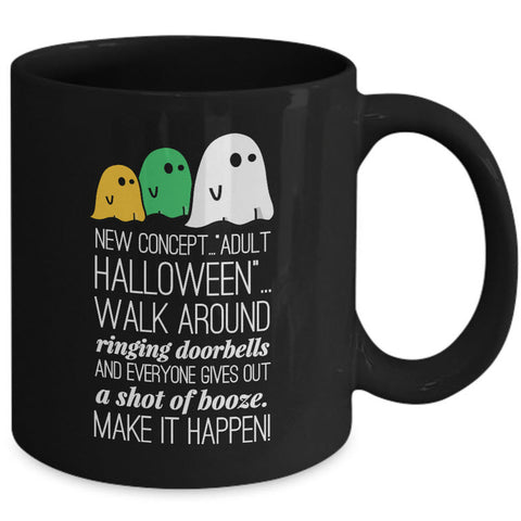 Halloween Coffee Mug- Funny Halloween Gift For Adults - Ghost Mug -