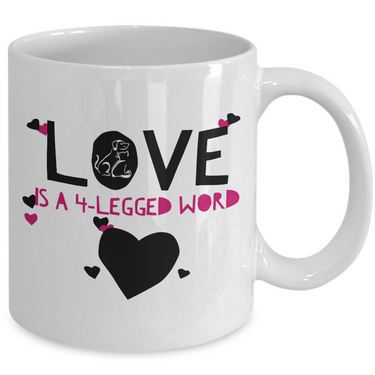 Dog Or Cat Lover Coffee Mug -Pet Lover Gift -