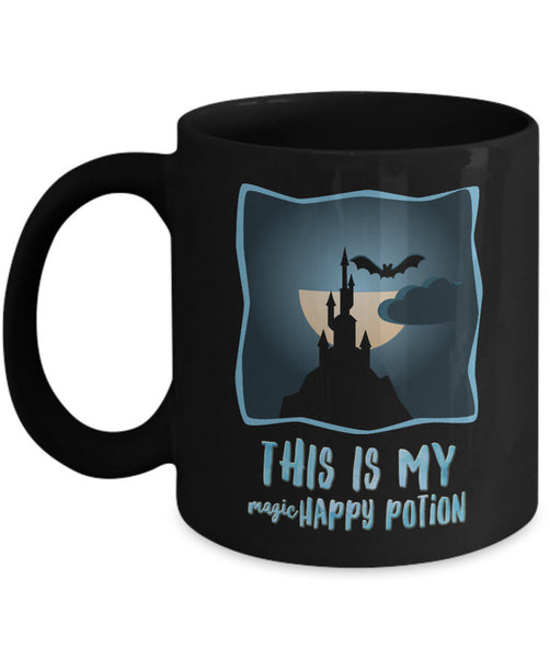 "Halloween Coffee Mug- Halloween Gift Idea For Adults - Potion Mug - ""This Is My Magic Happy Potion"""