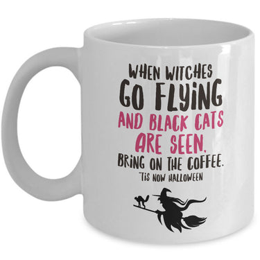 Halloween Witch Coffee Mug- Halloween Gift Idea For Adults -
