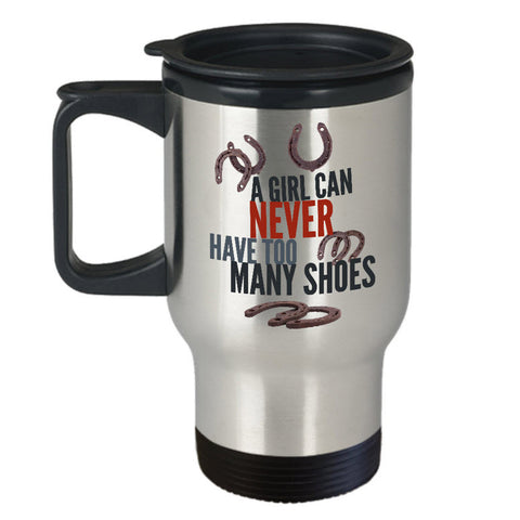 Horse Travel Mug - Stainless Steel Horse Themed Mug - Horse Gifts For Women Horse Lovers -