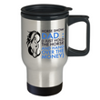 "Horse Travel Mug - Stainless Steel Horse Themed Mug - Horse Gifts For Men Horse Lovers - ""Horse Show Dad"""
