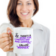 "Wine Lover Coffee Mug - Funny Ceramic Wine Lovers Gift For Women - ""There's A Word"""
