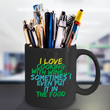"Wine Lover Coffee Mug - Funny Wine Lovers Gift - Wine Mugs For Women - ""I Love Cooking With Wine"""