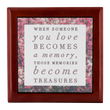 "Wooden Keepsake Memory Box - Loss Loved One Gift - Gifts For Grieving - ""When Someone You Love"""