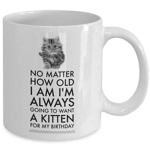 Cat Lover Coffee Mug - Cat Lover Gifts For Women And Men - Kitten Mug -
