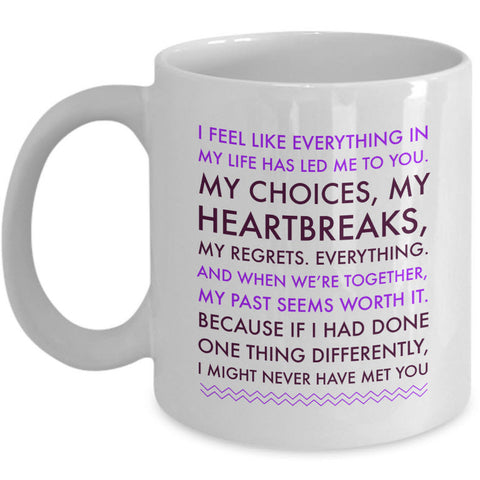 Valentines Day Or Anniversary Coffee Mug - Love Mug - Anniversary Gift -