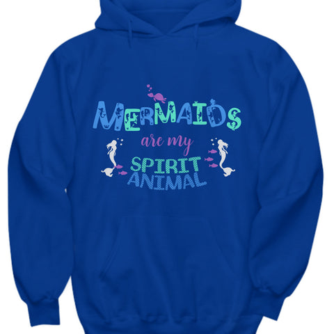 Mermaid Hoodie - Cute Mermaids Hoodie For Women - Mermaids Gift Ideas - Mermaid Gift For Women - Woman Mermaid Present Idea -