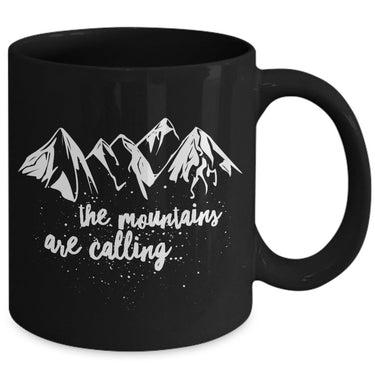 Mountain Climbing Coffee Mug - Hiking Mountaineering Wilderness Mug -
