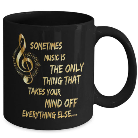 Music Coffee Mug - Music Lovers Gift - Music Teacher Gift -