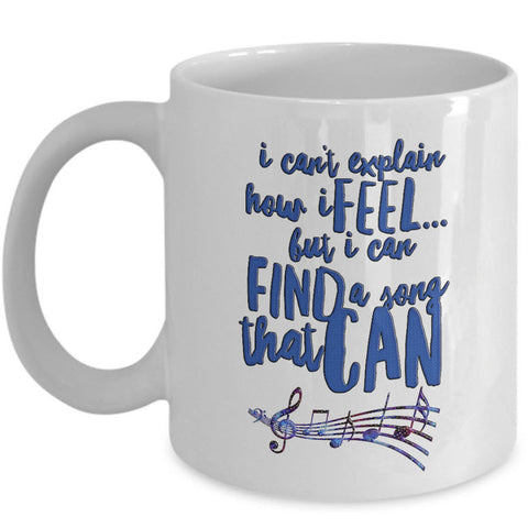 Music Coffee Mug - Music Lover Gift - Music Teacher Music Notes Mug -