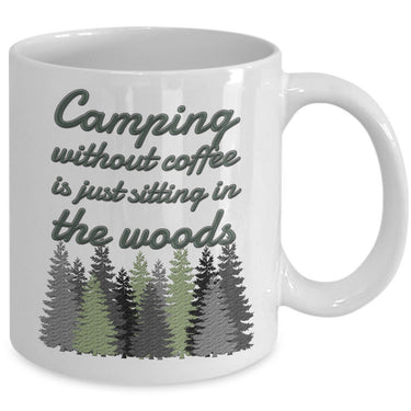 Camping Coffee Mug - Camping Outdoor Themed Gift Idea For Campers -