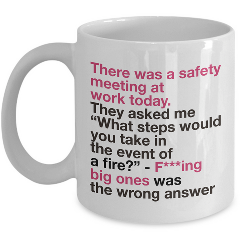 Office Coffee Mug - Funny Work Or Job Mug -