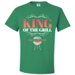 "Dad T Shirt - Funny Fathers Day Or Birthday Gift For Dads- BBQ Gift Shirt - ""King Of The Grill"""