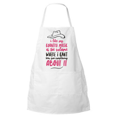 Country Music Apron - Funny Gift For Country Music Lovers -