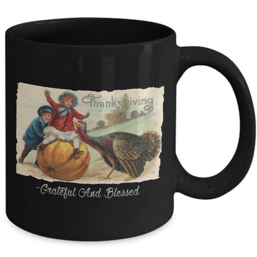 Thanksgiving Coffee Mug - Grateful Mug - Turkey Mug - Thanksgiving Gift -