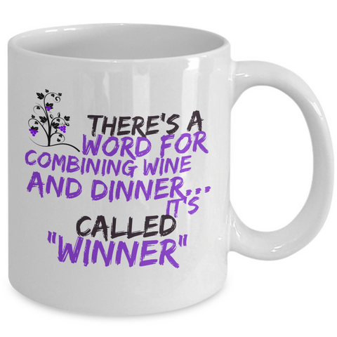 Wine Lover Coffee Mug - Funny Ceramic Wine Lovers Gift For Women -