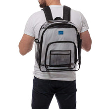 Load image into Gallery viewer, Clear Backpack and Matching Pencil Case, Transparent Travel Bag and Heavy-duty Bookbag, Available in 3 Colors