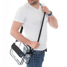Load image into Gallery viewer, Clear Cross-Body Messenger Bag Available in 2 Sizes - Stadium Approved Clear Bag