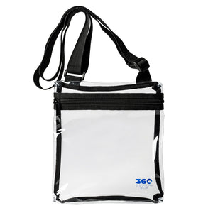 Small Clear Stadium Approved Bag, Transparent PVC Clear Purse for Games