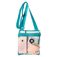 Load image into Gallery viewer, Small Clear Stadium Approved Bag, Transparent PVC Clear Purse for Games
