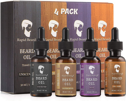 4 Pack Beard Oil