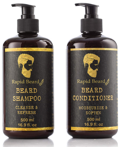 Beard Shampoo & Conditioner (Classic, 500ml)