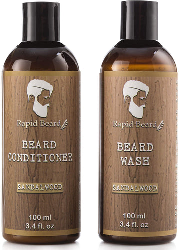 Beard Shampoo & Conditioner (Sandalwood, 100ml)